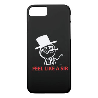 Feel Like A Sir - iPhone 7 case Black Case