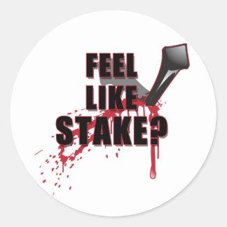 Feel Like STAKE? Classic Round Sticker