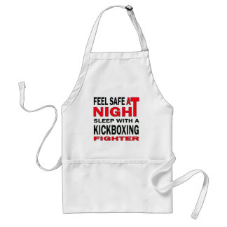 Feel safe at night sleep with a Kickboxing fighter Standard Apron