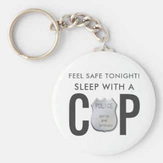 feel safe funny cop police humor keychain