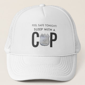 feel safe funny cop police humor trucker hat
