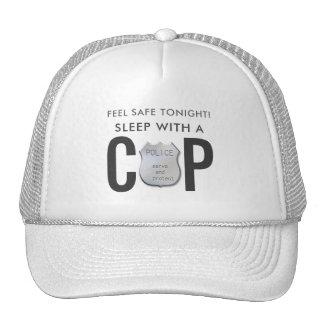 feel safe funny cop police humor trucker hat