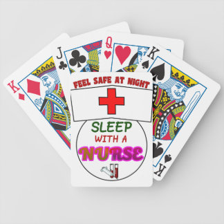 feel safe night sleep nurse, gift for nurses shirt bicycle playing cards