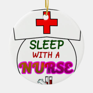 feel safe night sleep nurse, gift for nurses shirt ceramic ornament