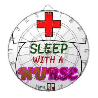 feel safe night sleep nurse, gift for nurses shirt dartboard