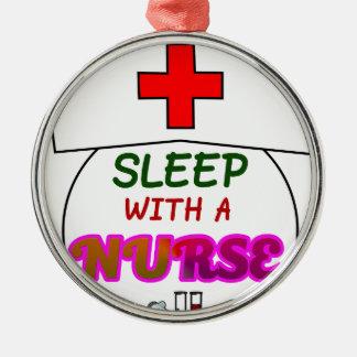 feel safe night sleep nurse, gift for nurses shirt metal ornament