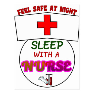 feel safe night sleep nurse, gift for nurses shirt postcard