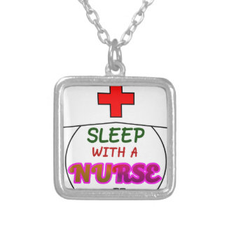 feel safe night sleep nurse, gift for nurses shirt silver plated necklace