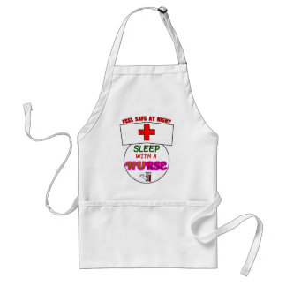 feel safe night sleep nurse, gift for nurses shirt standard apron