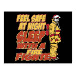 Feel Safe, Sleep with a Firefighter Postcard