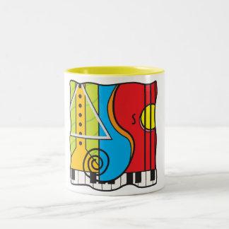Feel the beat Two-Tone coffee mug