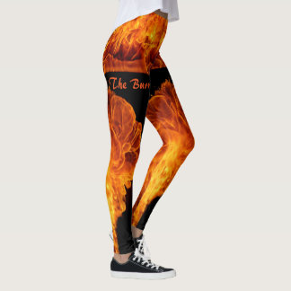 Feel The Burn! Women's Leggings Running Pants FIRE