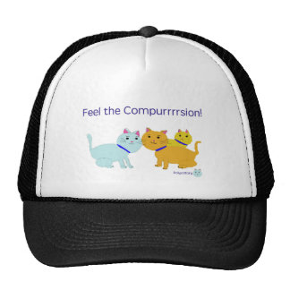 Feel the compurrrsion! trucker hat