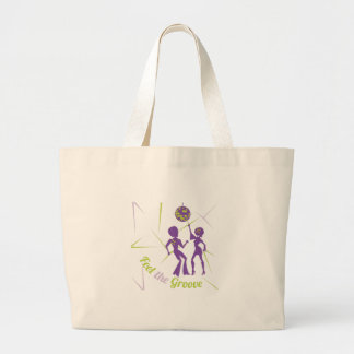 Feel The Groove Large Tote Bag