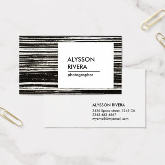 Feel the grunge business card