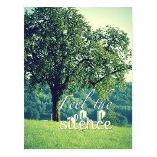 Feel the silence postcard