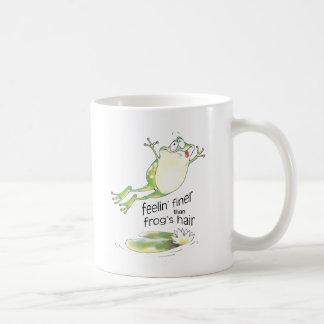 feelin' fine frog coffee mug