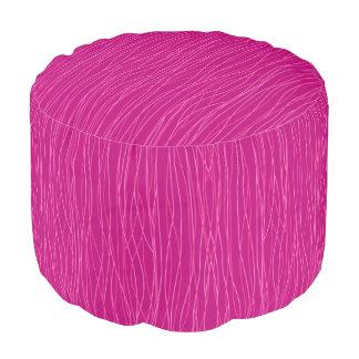 Feelin' Hot In Pink Footstool Ottoman Pouf
