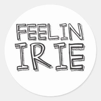 Feelin' Irie Classic Round Sticker