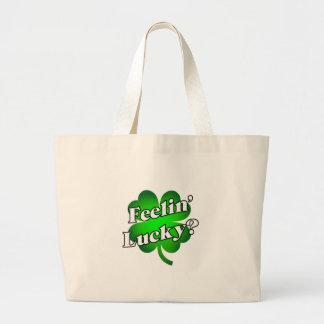 Feelin' Lucky? Large Tote Bag