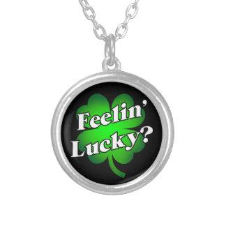 Feelin' Lucky? Silver Plated Necklace