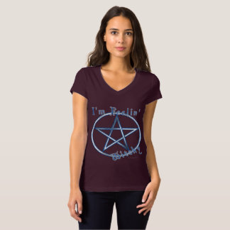 Feelin' Witchy Ladies V-Neck Jersey T-shirt