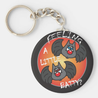 Feeling a Little Batty | Halloween Basic Round Button Keychain