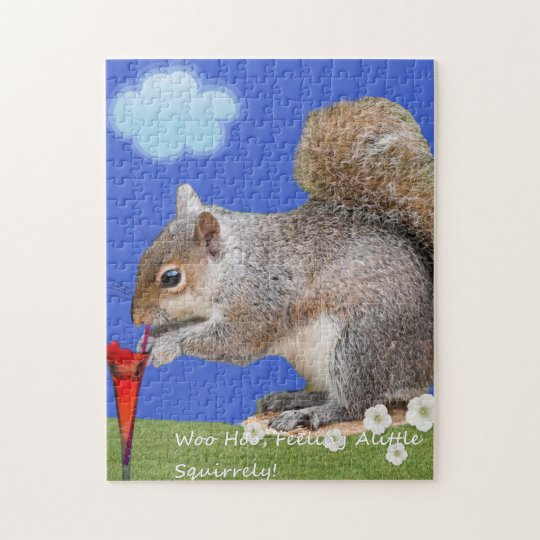 Feeling A Little Squirrelly. Jigsaw Puzzle