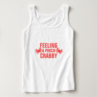 Feeling a Pinch Crabby Spaghetti Strap Tank Top