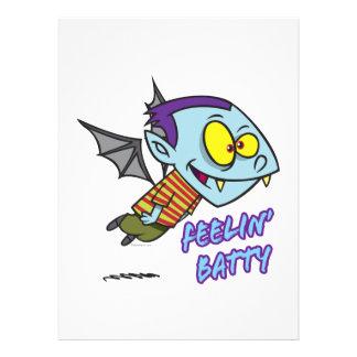 feeling batty funny vampire kid toon invitations