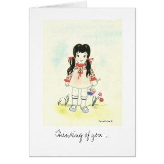 Feeling Better Little Girl Card