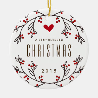 Feeling Blessed Holiday Photo Ornament