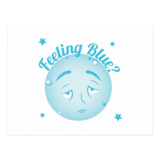 Feeling Blue Postcard