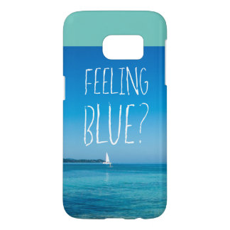 Feeling Blue Samsung Galaxy S7, Barely There Samsung Galaxy S7 Case