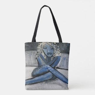 Feeling Blue Tote Bag  (Customizable)