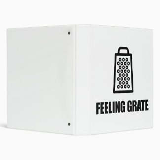 Feeling Cheese Grater 3 Ring Binder