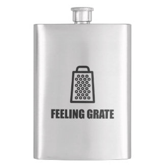 Feeling Cheese Grater Flasks