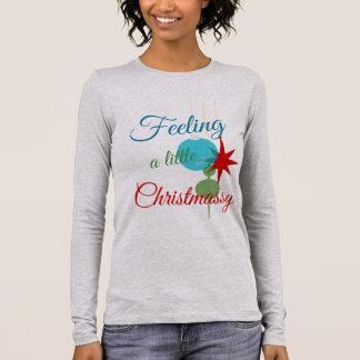 Feeling Christmassy Text Design Long Sleeve T-Shirt