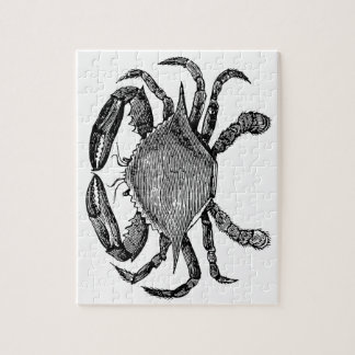Feeling Crabby Black Jigsaw Puzzle