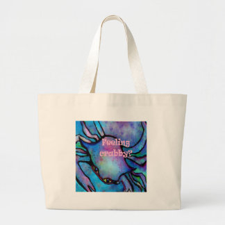 Feeling Crabby Large Tote Bag