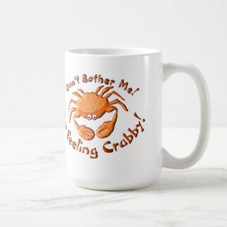 Feeling crabby classic white coffee mug
