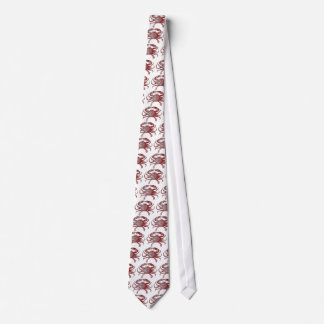 Feeling Crabby Red Pencil Crab Sketch Tie