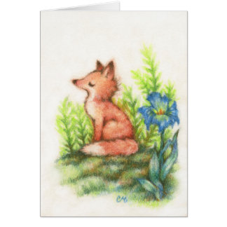Feeling Foxy - Cute Fox Art Card