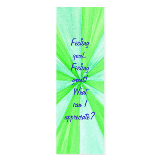 Feeling good. Feeling great! Affirmation bookmarks Business Card Template