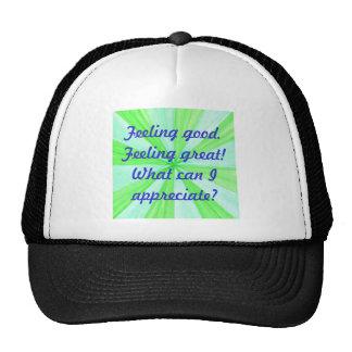 Feeling good feeling great affirmation hat