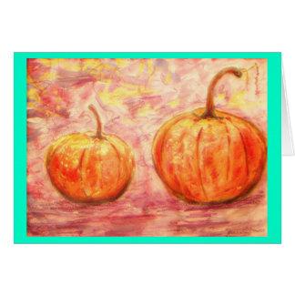 feeling good pumpkins greeting card