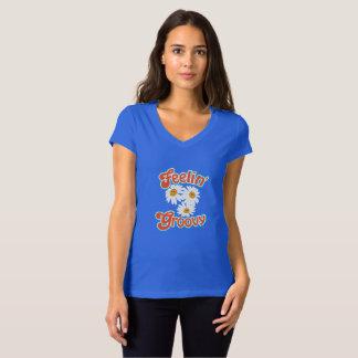Feeling Groovy Women's V-Neck T-Shirt