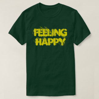 Feeling Happy Men's Basic Dark T-Shirt