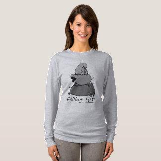 Feeling Hippo Preemie Baby Hippo T-Shirt