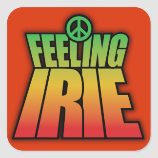 Feeling Irie Square Sticker